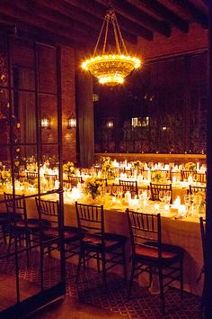 Candles. Ang Weddings And Events. Photography: Karen Hill Photography - karenhill.com Planning: Ang Weddings and Events - angweddingsandevents.com  Read More: http://www.stylemepretty.com/tri-state-weddings/2014/04/16/winter-wedding-at-the-bowery-hotel-2/