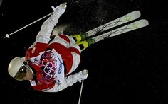 Canadian Marc Antoine Cagnon trains during the Ski freestyle moguls at the Extreme Park at Rosa Khutor Mountain ahead of the Sochi 2014 Winter Olympics Olympic Sports, Winter Games, Winter Olympics, Skiing, Cool Photos, Colours, Trains, Mountain, Canada