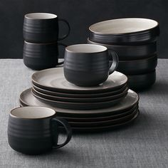 18th Street 16-Piece Dinnerware Set in Dinnerware Collections | Crate and Barrel