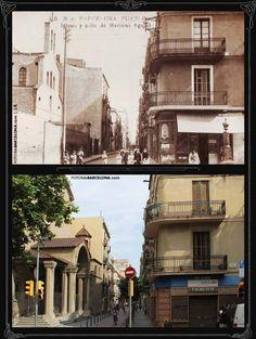 Fotos comparativas ( antes y despues ) del Poblenou