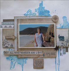 layout by Annette using Kaisercraft high tide range. www.craftqueen.com.au
