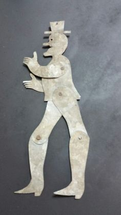 This is an antique dancing Uncle Sam or man with a top hat metal folk art piece. Made of galvanized tin he is jointed at the arms and knees. There is a hole in the top of his hat for hanging and when he is blown he moves around. | eBay!