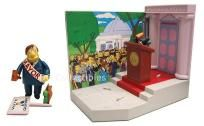 Playmates Simpsons Springfield Town Hall with Mayor Quimby 2001 WOS New Sealed