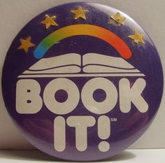 Book It!! Young bookworm Aimee loved this program. Personal pan pizza at Pizza Hut? Yes, please!!!