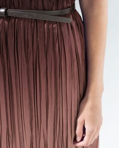 OMBRE DRESS WITH BELT from Zara