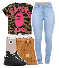 """""""Follow Me On IG: @thatgirlarie_"""" by ariangrant ❤ liked on Polyvore featuring MCM, adidas and AriIdeas"""