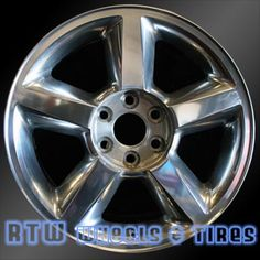 """Chevy Tahoe wheels for sale 2007-2009. 20"""" Polished rims 5308 - http://www.rtwwheels.com/store/?post_type=product&p=33063"""