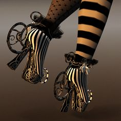 Cutea Benelli's shoes for a fine avatar at grim bros. More really cool well heeled avatars here.