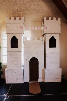 DIY cardboard box castle - My WordPress Website Cardboard Box Castle, Cardboard Box Crafts, Cardboard City, Princess Crafts, Princess Tea Party, Princess Castle, Castle Party, Medieval Party, Princess Party Decorations