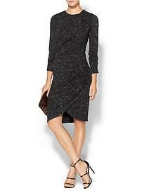 Tinley Road Asymmetrical Wrap Knit Dress