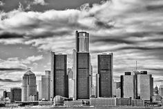 Detroit Skyline HDR