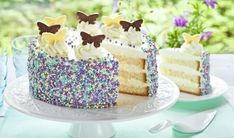 Biskuit-Zitronen-Torte Rezept   Dr. Oetker German Desserts, Happy Birthday Baby, Home Baking, No Bake Desserts, Cake Cookies, Vanilla Cake, Baking Recipes, Sweet Treats, Bakery