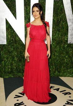 Salma always looks so beautiful.  Doesn't hurt to have LVMH on your side.  #VanityFair #Oscars