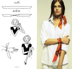 neck & wirst - hermes scarf cards