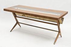 Lot : Tavolo da pranzo in legno di noce con piano rettangolare... | In the sale Arts Décoratifs du XXème siècle, Design at Il Ponte Casa d'Aste