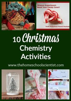 10 Christmas Chemistry Activities - The Homeschool Scientist Science Activities For Kids, Preschool Science, Elementary Science, Science Lessons, Christmas Activities, Teaching Science, Science Projects, Science Classroom, Science Education