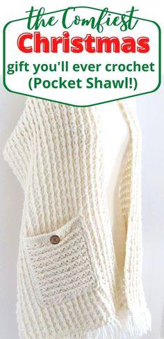 Poncho Au Crochet, Crochet Wrap Pattern, Pull Crochet, Crochet Shawls And Wraps, Crochet Scarves, Crochet Yarn, Crochet Clothes, Free Crochet Shawl Patterns, All Free Crochet