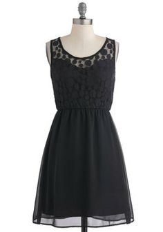 Down and Dotty Dress, #ModCloth Cute LBD!  I love the subtle polka dots on the top, providing elegant detail :)