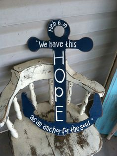 Navy blue 24x16 anchor We have this hope by RobinCastroCreations, $15.00 @Hollee Kubik Clement Higbea