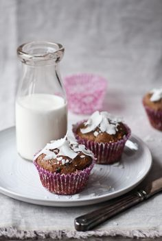 coconut apple carrot muffins