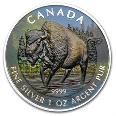 Call to order 2013 Canada 1 oz Silver Wildlife Series Wood Bison (Full Color) at APMEX. We offer competitive Silver prices on RCM Silver Wildlife Series (Uncirculated) and secure online ordering. Canadian Things, Canadian Wildlife, Valuable Coins, Northwest Territories, Gold And Silver Coins, True North, Old Coins, Coin Collecting, Forests