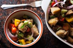 Panzanella (and an adventure in breadmaking)