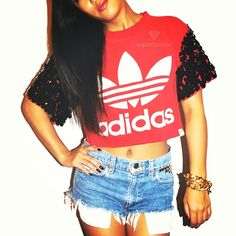 NEW!! Exclusive #Supercolour #Reworked #Vintage #Adidas #Crop #Tee available now at www.shopsupercolour.com