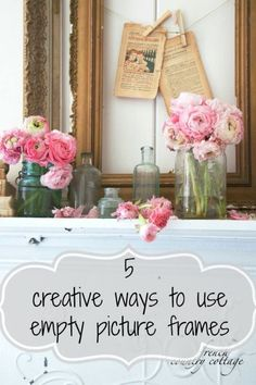 What do you do with those vintage or empty picture frames? You know the ones. They are ornate and pretty all on their own with their gorgeous gold or chipped paint, and ornate designs. They don't really need anything else to be used as beautiful items in decor. Follow along as eBay shares five creative ways to incorporate vintage empty picture frames into your home décor.