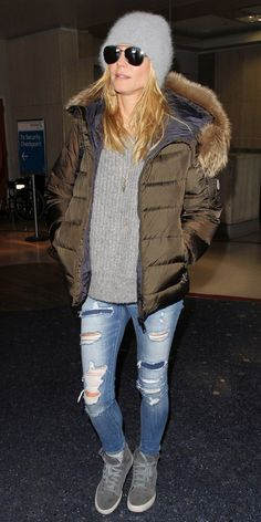 17 Celebrities Who Know How to Bundle Up in Style - Heidi Klum - from InStyle.com