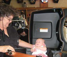 Cara Mathews, proud grandmother of Colie (Melinda's daughter)#harleydavidson