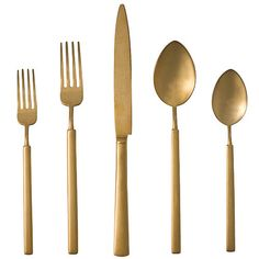 Herdmar Vintage Solid Gold 5-Piece Place Setting | Gracious Home | Product