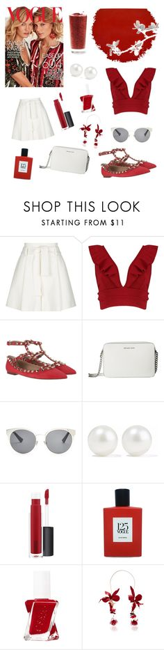 """""""Valentino flats"""" by antonia-stefanoiu ❤ liked on Polyvore featuring Maje, Boohoo, Valentino, MICHAEL Michael Kors, Christian Dior, Kenneth Jay Lane, John Lewis, Comme des Garçons and chicflats"""