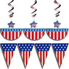 4th of July patriotic decorations par…