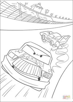 Disney Cars Coloring pages. Select from 31983 printable Coloring pages of cartoons, animals, nature, Bible and many more. Whale Coloring Pages, Cars Coloring Pages, Disney Coloring Pages, Free Printable Coloring Pages, Coloring Pages For Kids, Coloring Books, Disney Cars, Car Drawings, Animal Drawings
