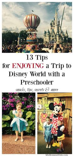 Planning a trip to Disney World with a small child or preschooler? You're going to love these tips for snacks, tips, secrets and more! Plus a chance to win a Disney World vacation! #tinytravelers #ad