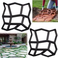 JAXPETY 18 x 16 Path mate Stone Mold Paving Pavement Concrete Mold Stepping Stone Paver Walk Maker Durable /& Easy to Use Rectangular patterns