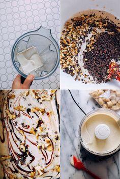 raw + vegan chunky monkey ice cream // via @thefirstmess