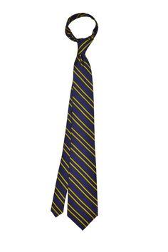 Double stripe Navy silk tie - Goldenrod - Knottery NY