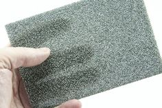 Recemat has a cellular structure and is produced from metallised organic foam.