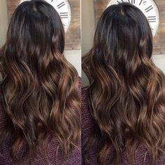 #chestnut balayage tones // #styledbycarolyn #temeculahair #temeculahairstylist #temeculasalon #temeculahairsalon #hairstylist #salondelamariee