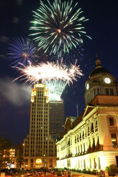 Three Rivers Festival Fireworks – Downtown Fort Wayne, Indiana
