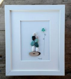 Pebble art mother doughter Mother doughter gift home decor