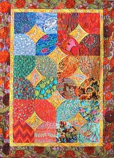 Kaffe Fassett 10-Minute Block Quilt (51X70) This is the one for JR & Jess's wedding book quilt!!!