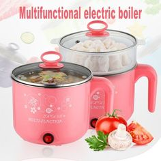 Stainless Steel Electric Cooker with Steamer Hot Pot Rice Cooker Soup Pot Rice Cooker, Slow Cooker, Steamed Eggs, Shabu Shabu, Electric Cooker, Cooking Equipment, Pan Set, Non Stick Pan, Hot Pot