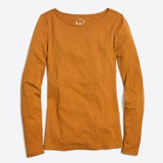 J.Crew - Long-sleeve artist T-shirt Sale $14.50 LOVE the yellow & olive green colors.