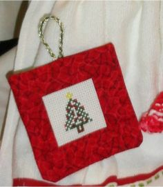Great tutorial on finishing a cross stitch ornament!