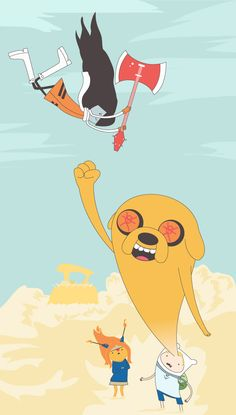 vectorbelly:    Adventure Time/FLCL mashup