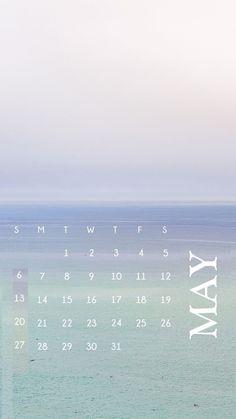 Cute May 2018 iPhone Calendar Wallpapers