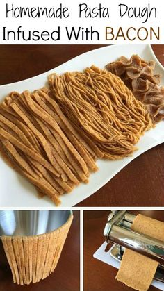 How To Make Homemade Pasta Dough Infused With Bacon