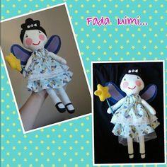 Fada Mimi, inspirada na Gigi serelepe, costurada a mão.